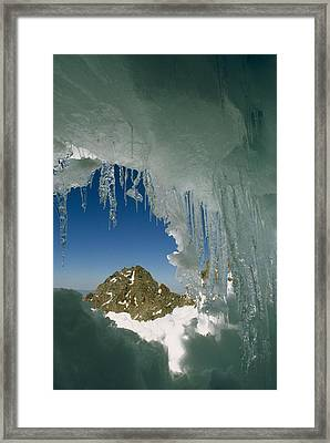A View Of A Mountain Summit Framed Print