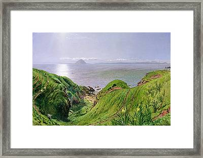A View Of Ailsa Craig And The Isle Of Arran Framed Print by William Bell Scott