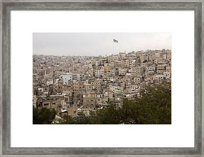 A View Of Amman, Jordan Framed Print by Taylor S. Kennedy