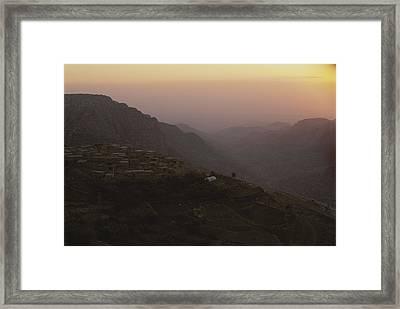 A View Of Dana, Jordan Framed Print by Kenneth Garrett