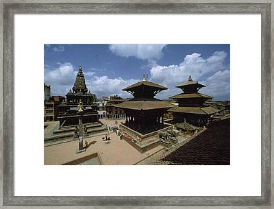 A View Of Durbar Square Showing Framed Print by James P. Blair