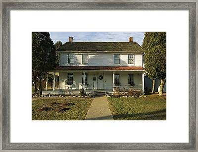 A View Of Harriett Tubmans House Framed Print by Ira Block