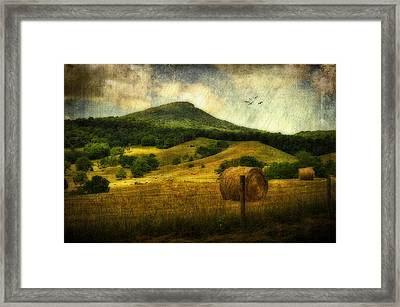 A View Of Jump Mountain Framed Print by Kathy Jennings