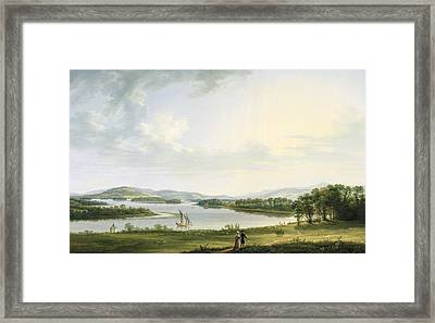 A View Of Knock Ninney And Part Of Lough Erne From Bellisle - County Fermanagh  Framed Print by Thomas Roberts