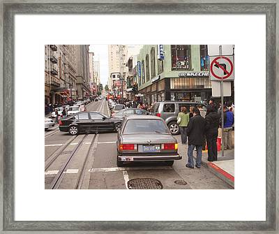 A View Of San Francisco Down Town From The Cable Car Ride Framed Print by Hiroko Sakai