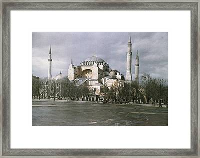 A View Of Sancta Sophia From Arcoss Framed Print by Maynard Owen Williams