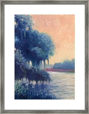 A View Of The Ashley River Framed Print