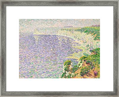 A View Of The Cliffs Of Etretat Framed Print by Claude Emile Schuffenecker