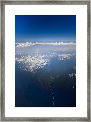 A View Of The Coastal Mountains Framed Print