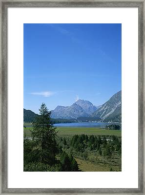 A View Of The Engadin Valley Outside St Framed Print by Taylor S. Kennedy