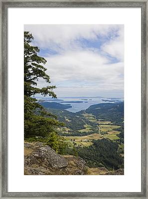 A View Of The Farms Of The Island Framed Print by Taylor S. Kennedy