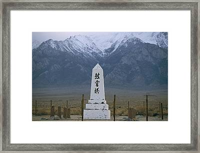 A View Of The Manazanar War Relocation Framed Print
