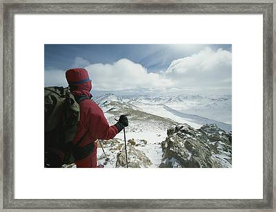 A View Of The Sawatch Range Framed Print by Tim Laman