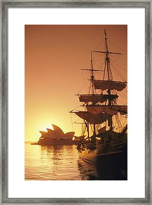 A View Of The Sydney Opera House Framed Print by Richard Nowitz