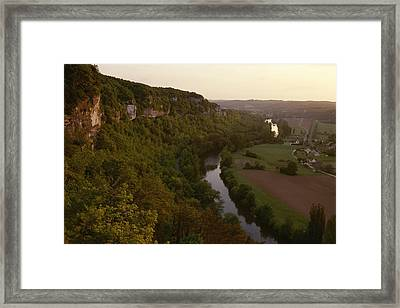 A View Of The Vezere River Valley Framed Print by Kenneth Garrett