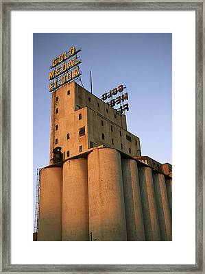 A View Of The Washburn Crosby A Mill Framed Print by Ira Block