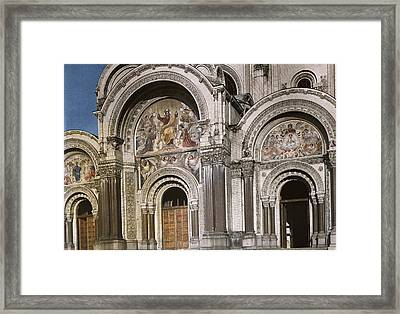 A View Of The West Entrance Framed Print by Maynard Owen Williams