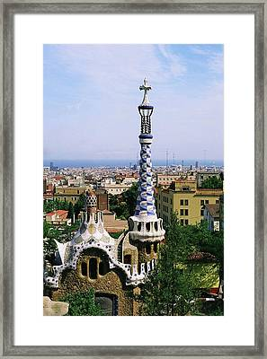 A View Over Barcelona From Parc Guell. Framed Print by Tracy Packer Photography