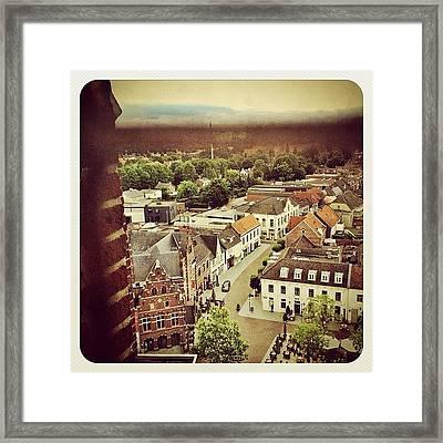 A View Over The Centre Of #venray From Framed Print