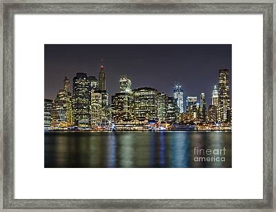 A View To Lower Manhattan Framed Print by Susan Candelario