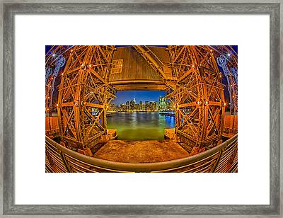 A View To The Empire State Framed Print by Susan Candelario