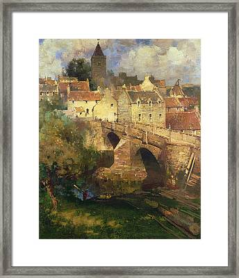 A Village In East Linton Haddington Framed Print by James Paterson