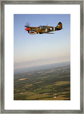 A Vintage World War II P-40n Fighter Framed Print by Pete Ryan