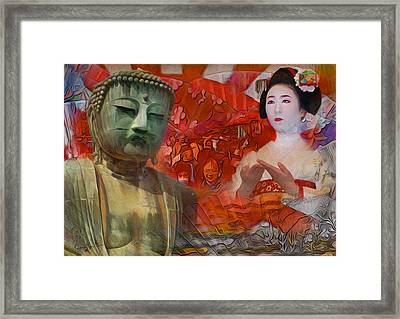 A Vision Of The History Of Japan  Framed Print