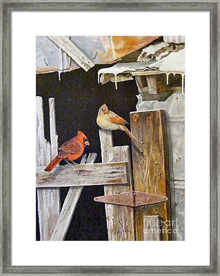 A Visit To Daddy's Barn  Sold Framed Print