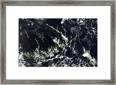 A Volcanic Plume From The Rabaul Framed Print by Stocktrek Images
