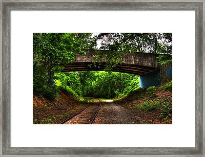 A Walk Along The Tracks Framed Print