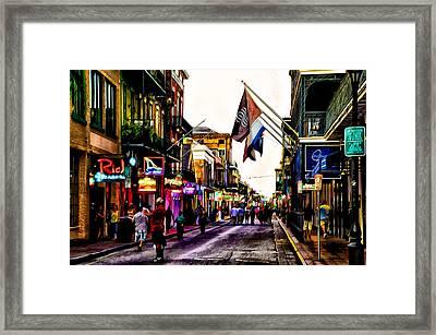 A Walk Down Bourbon Street Framed Print by Bill Cannon