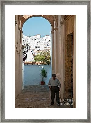 A Walk In Spain Framed Print by Jim Chamberlain