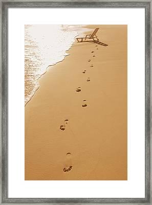 A Walk On The Beach Framed Print by Don Hammond
