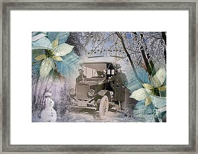 A Way With Snow Framed Print