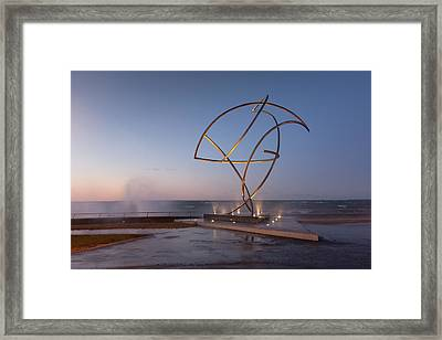 A Weather Storm Creating Waves Crashing Framed Print