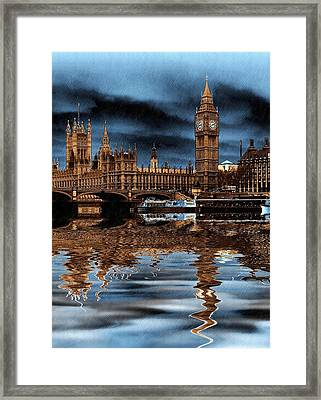 A Wet Day In London Framed Print by Sharon Lisa Clarke