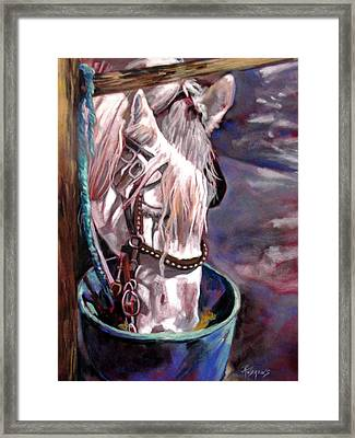 Framed Print featuring the painting A Whiter Shade Of Pale by Rae Andrews