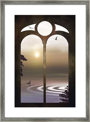 A Window To The Sunset Framed Print by Tom York Images