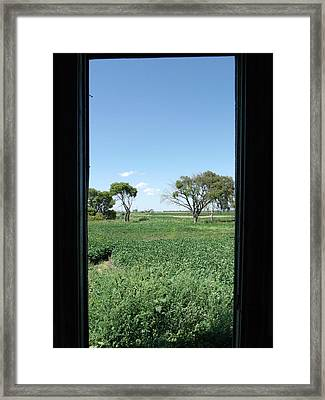 A Window With A View Framed Print