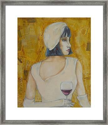 A Wine Tasting Evening Framed Print by MaryAnn Ceballos
