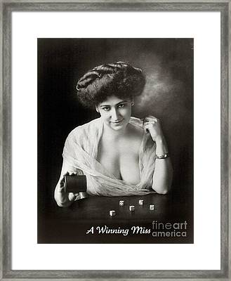 A Winning Miss 1911 Framed Print by Padre Art
