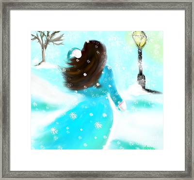 Framed Print featuring the painting A Winter Day by Lori  Lovetere