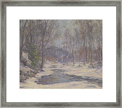 A Winter Morning  Framed Print by Frank Townsend Hutchens