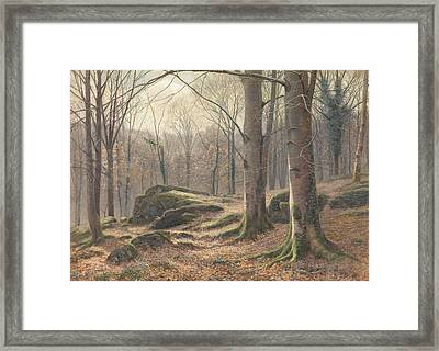 A Winter Morning Framed Print by James Thomas Watts