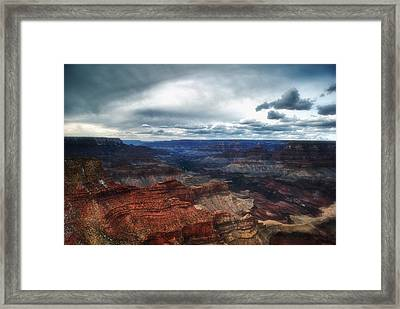 A Winter Scene From The South Rim Of Grand Canyon National Park.  Framed Print by C Thomas Willard
