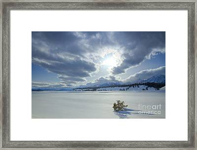 A Winter Sky Framed Print by Idaho Scenic Images Linda Lantzy