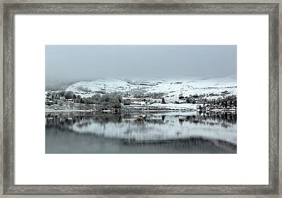 Framed Print featuring the photograph A Winter's Scene by Lynn Bolt