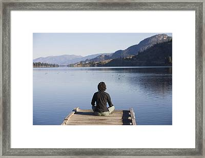 A Woman Enjoys Yoga And Relaxation Framed Print by Taylor S. Kennedy