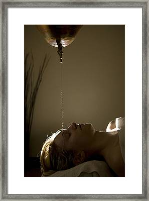 A Woman Gets A Spa Treatment Framed Print by Taylor S. Kennedy